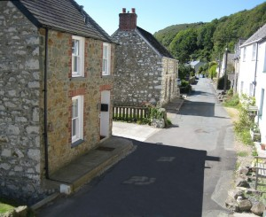 The lane outside Grove Cottage